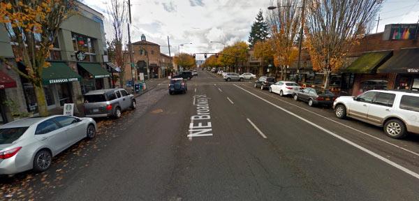 NE Broadway in Portland, Oregon. (Courtesy Google)