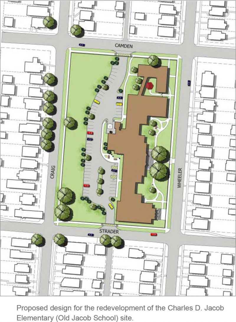 Project site plan from a 2015 Jacobs neighborhood plan.