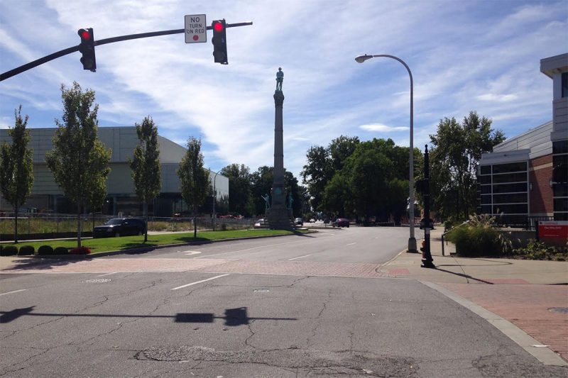 Looking south on Third Street from Brandeis Avenue. (Branden Klayko / Broken Sidewalk)