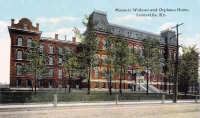 The Masonic Widows & Orphans Home was one of two orphanages in the area in the 1880s.