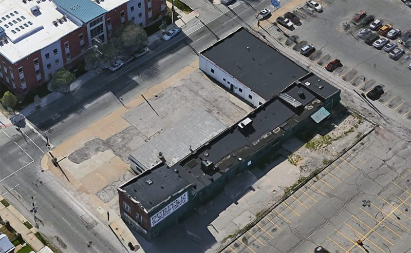 The L-shaped Puritan parcel contains a vacant lot where underground storage tanks were removed years ago. (Courtesy Google)