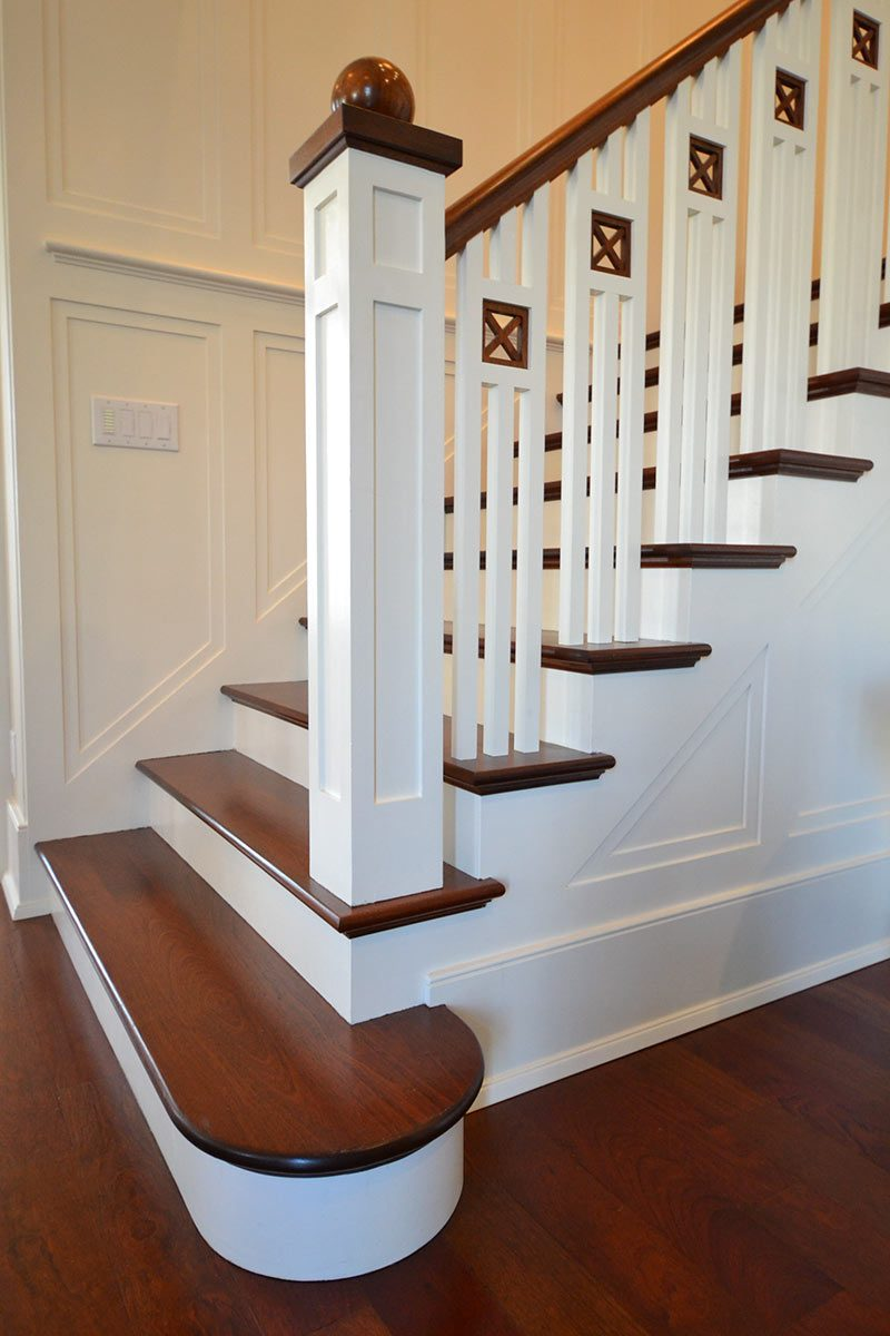 A stair detail at the Hacet Residence. (Courtesy Burrus Architecture & Construction)