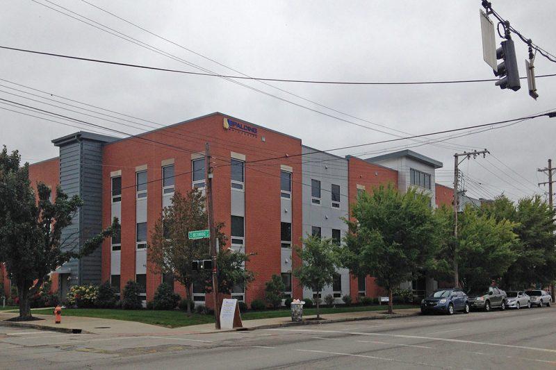 Spalding University's new dormitory at Second and Breckinridge streets. (Branden Klayko / Broken Sidewalk)