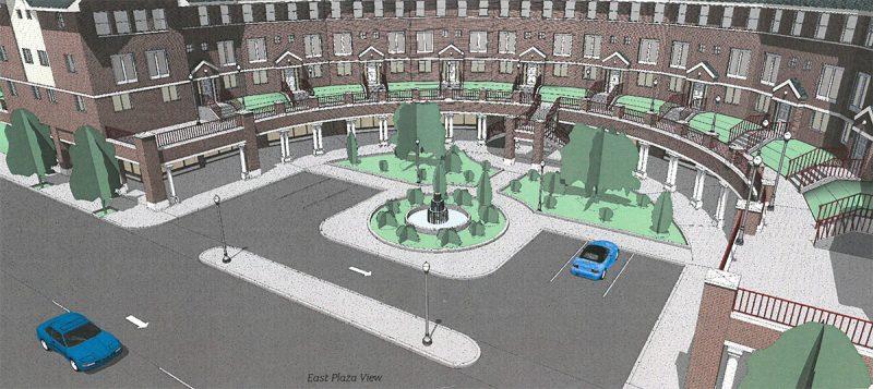 Rendering of proposed parking lot. (Trilogy Real Estate / Via Metro Louisville)