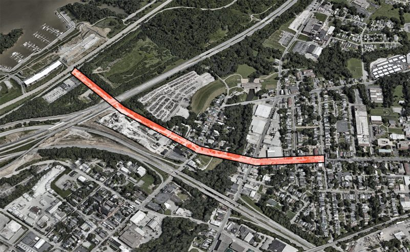 The study will look at Frankfort Avenue from River Road to Pope Street. (Via Google)