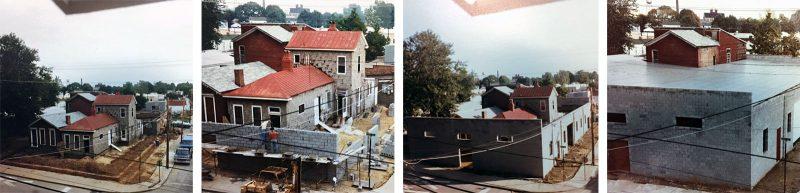 Ackerman Millworks under construction in 1982. (Courtesy Three Points)