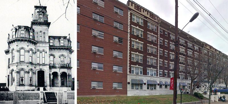 Several grand mansions were demolished to make way for the Puritan Apartments in Old Louisville. (Courtesy Steve Wiser)