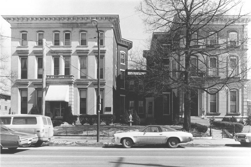 The Cornwall House and the Brown House are now parking lots. (Courtesy National Register)