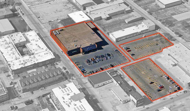 The Kroger property. (Via Google / Montage by Broken Sidewalk)